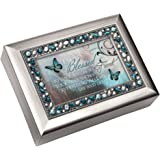 I'm so Blessed to Have You as My Friend Friendship Decorative Jewel Lid Musical Jewelry Box - Plays Wind Beneath My Wings