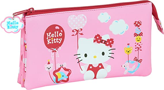 Portatodo Triple de Hello Kitty Balloon, 220x30x120mm: Amazon.es: Equipaje