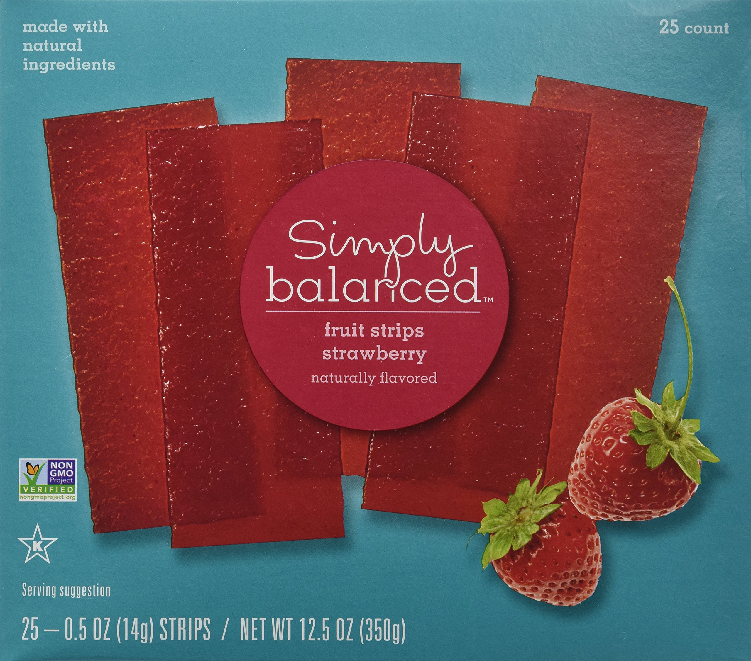 Simply Balanced Strawberry Fruit Strips (25 Count)