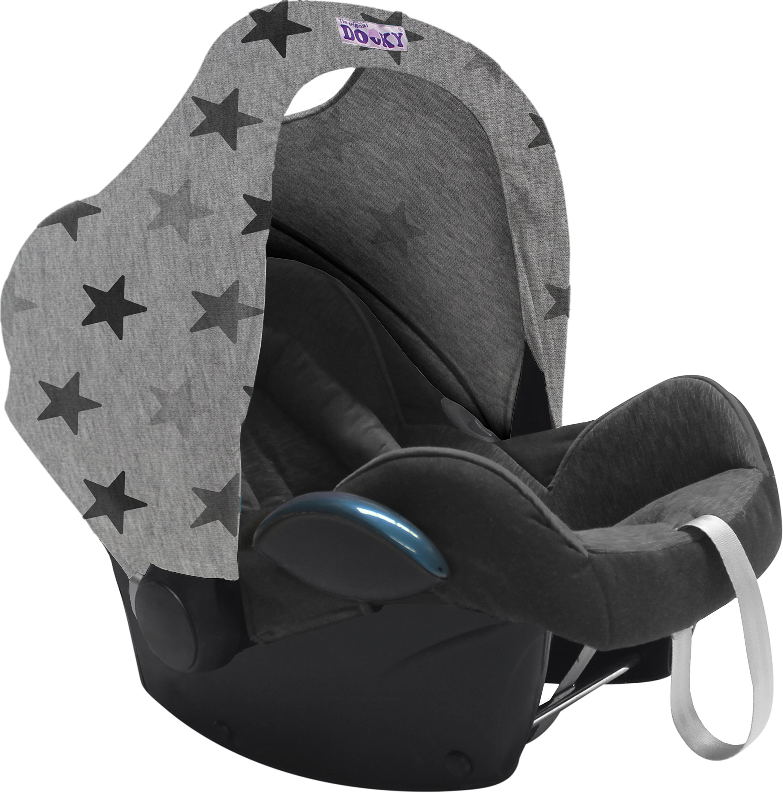 Dooky Hoody Replacement Infant Car Seat Hood Grey Stars (Dispatched From UK)
