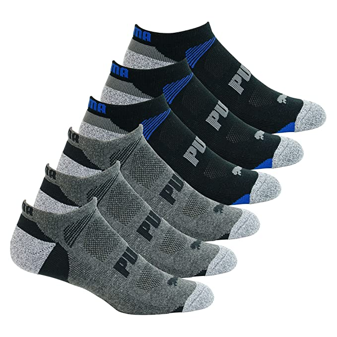 Amazon.com: Puma Mens Low Cut All Sport No Show Socks 6-Pair (Shoe Size 12-16, Black/Grey): Sports & Outdoors