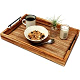 Premium Ottoman Serving Tray - Farmhouse Coffee Table - Decorative Rustic home Decor Trays - Home Bed And Breakfast…