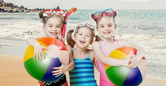 4PC Firm Bubble Ball Balloon Beach Garden Pool Birthday Party Kids Game Toys