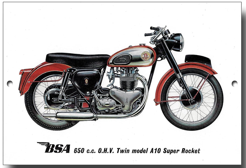 BSA A10 Super Rocket quality metal sign