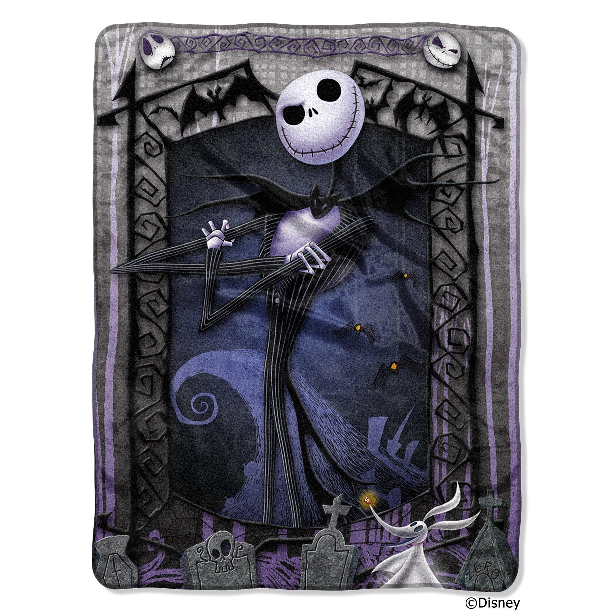 Northwest Disney The Nightmare Before Christmas, Jack's Graveyard 46'' x 60'' Micro Raschel Throw Blanket by Northwest
