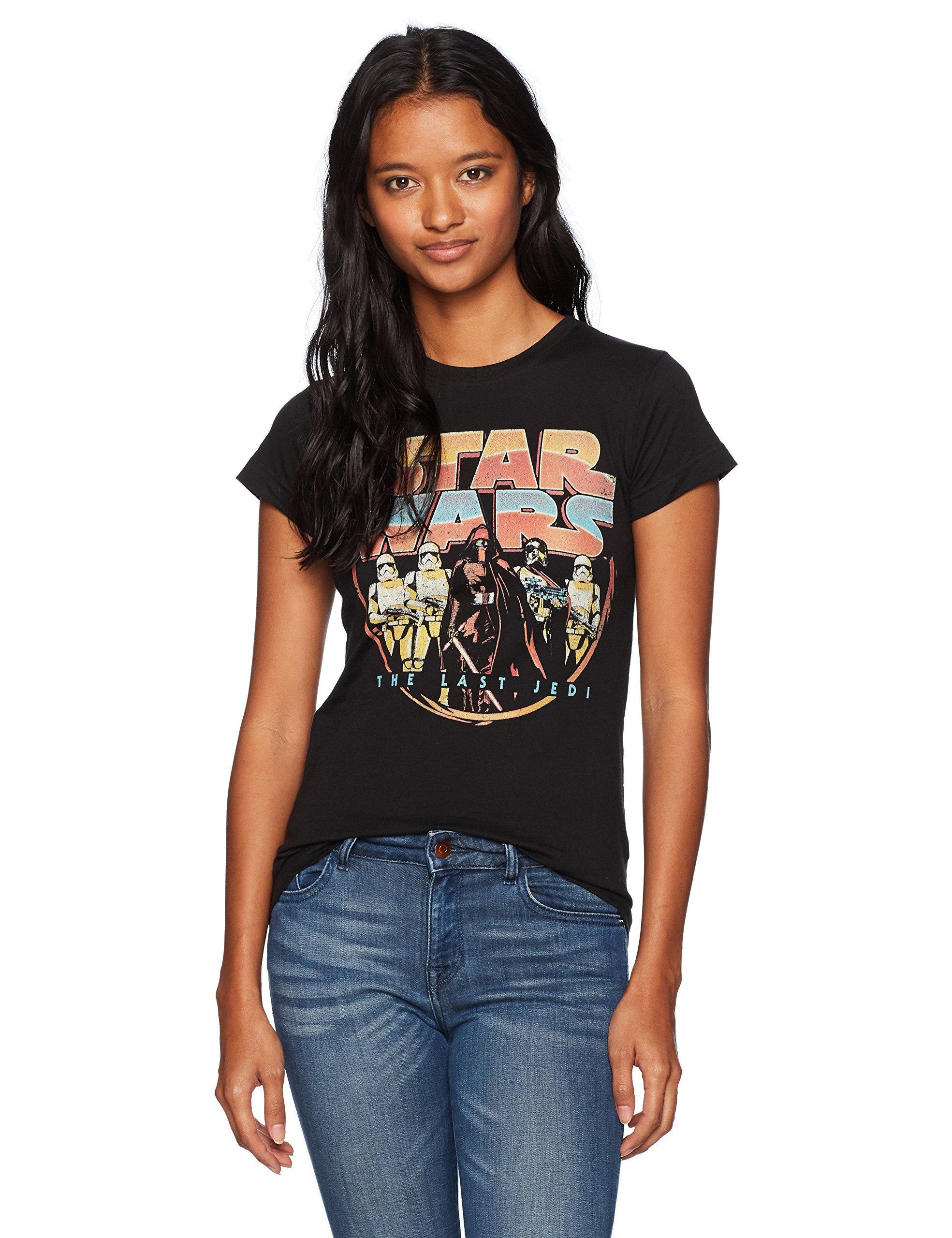 Star Wars Junior's Retro Style Poster Top, Black, XX-Large