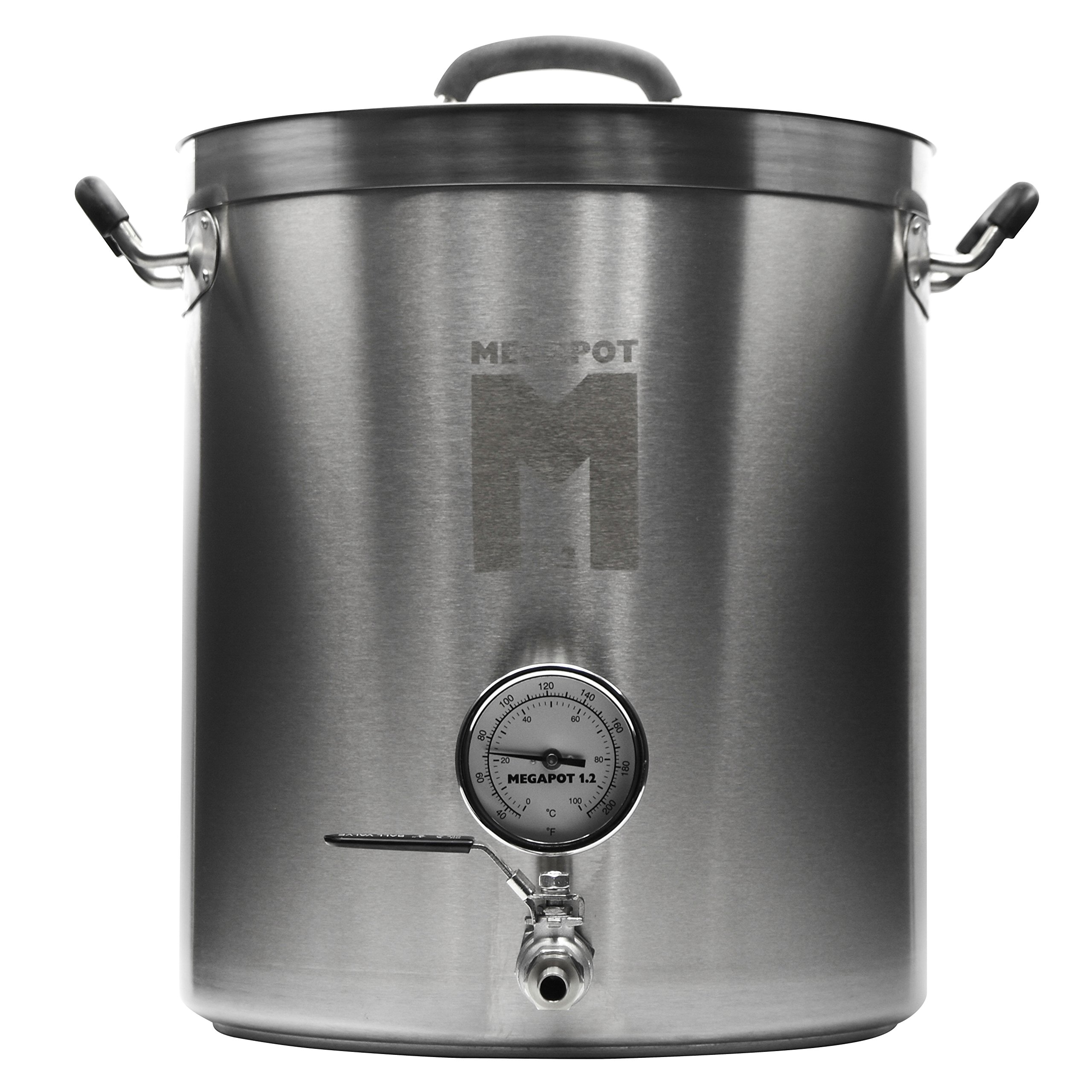 Brew Kettle: Stainless Steel Stock Pot for Homebrew (Kettle with a Valve and Thermometer, 8 Gallon)