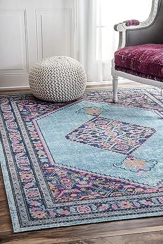 nuLOOM Palmetto Vintage Area Rug, 3 x 5 , Blue