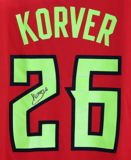 check out 828d1 aef1b Kyle Korver Atlanta Hawks Signed Autographed Red #26 Jersey ...
