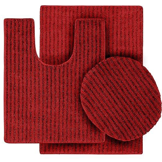 Amazon.com: Garland Rug 3 Piece Sheridan Nylon Washable Bathroom Rug Set,  Chili Pepper Red: Home U0026 Kitchen