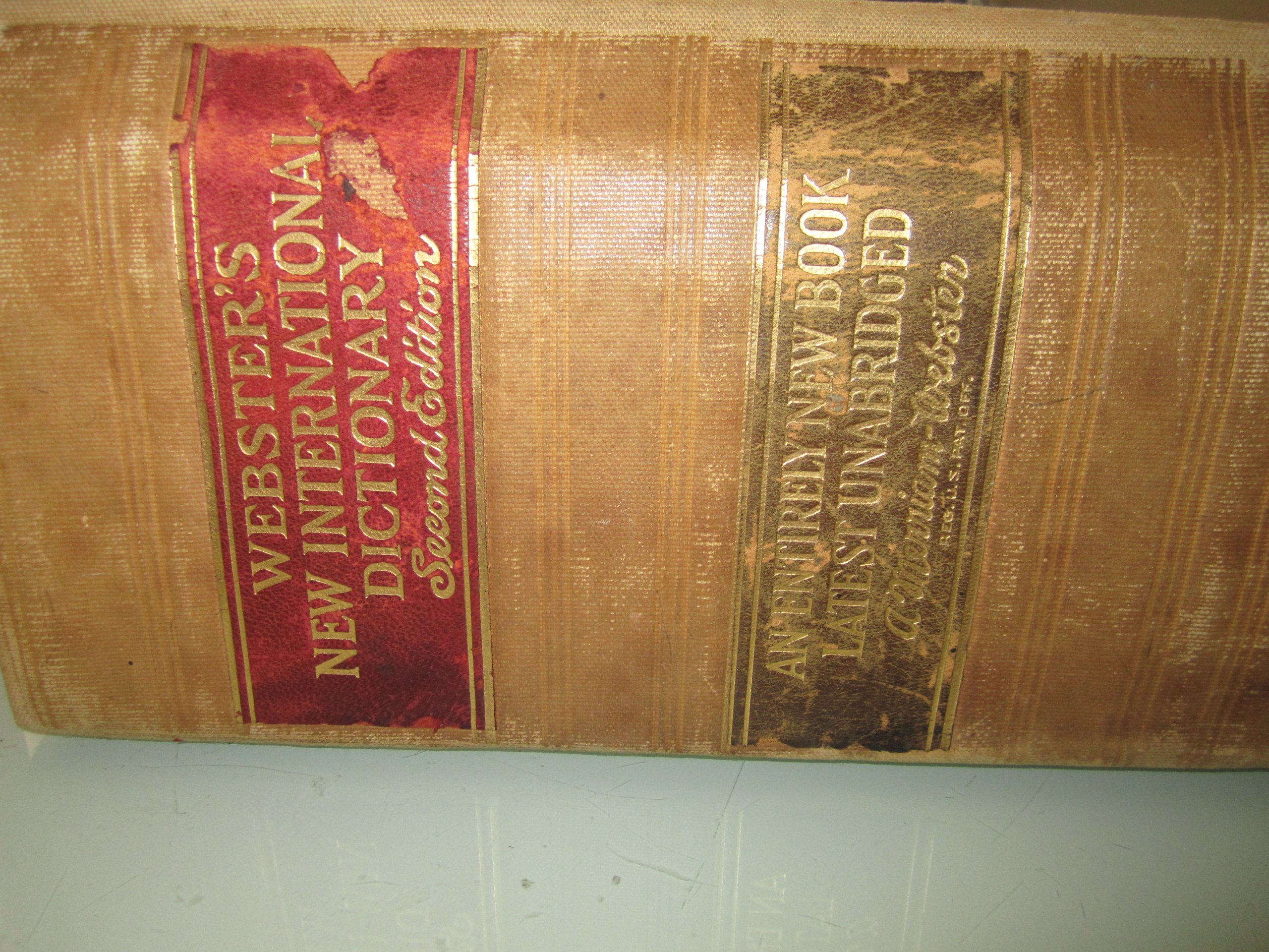 Websters New International Dictionary Second Edition Unabridged