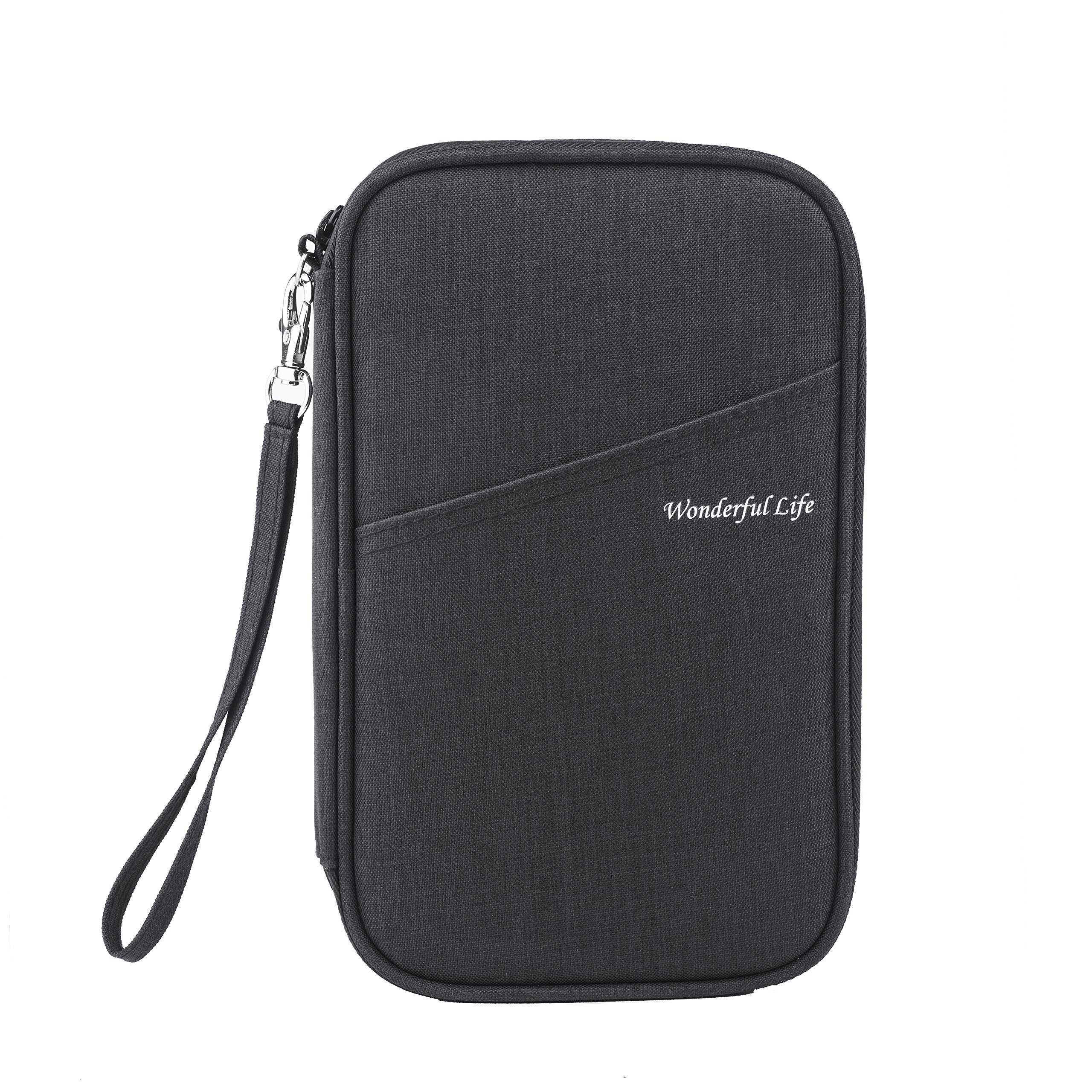 Family Travel Passport Wallet Multiple Passport Holder/Document Organizer Bag