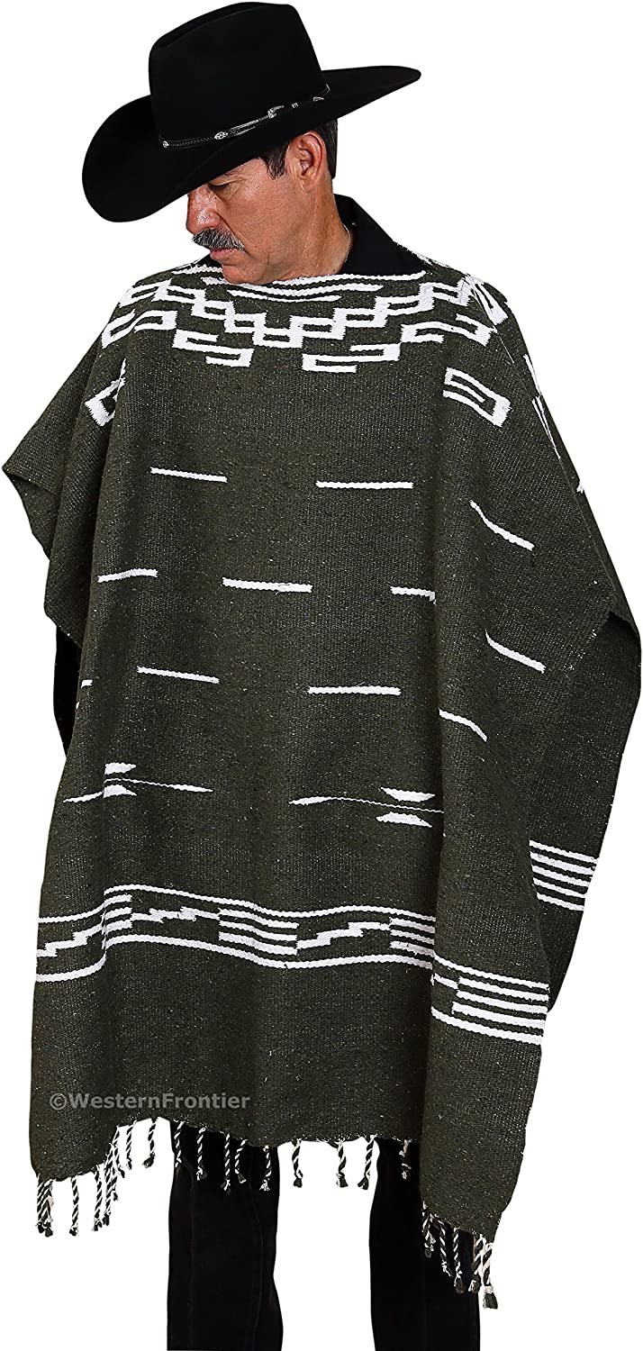 El Paso Designs Clint Eastwood Spaghetti Western Poncho Sweater 38x38 Handwoven Made in Mexico