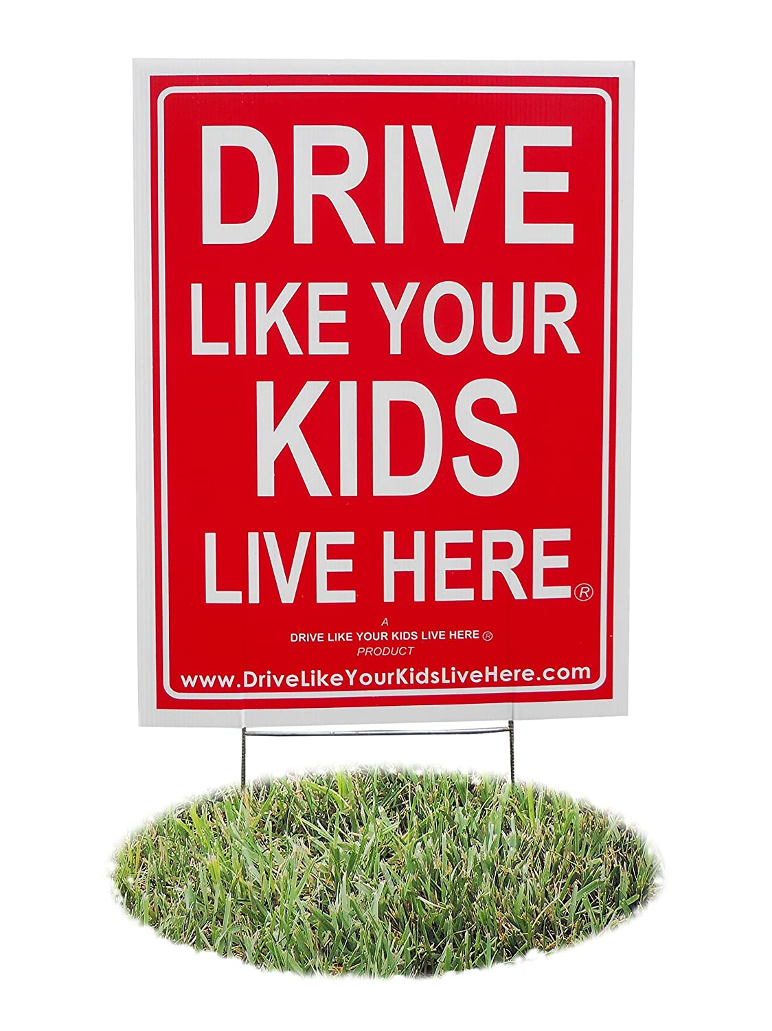 Drive Like Your Kids Live Here Yard Sign, Slow Down Sign/Children at Play Reminder YS1
