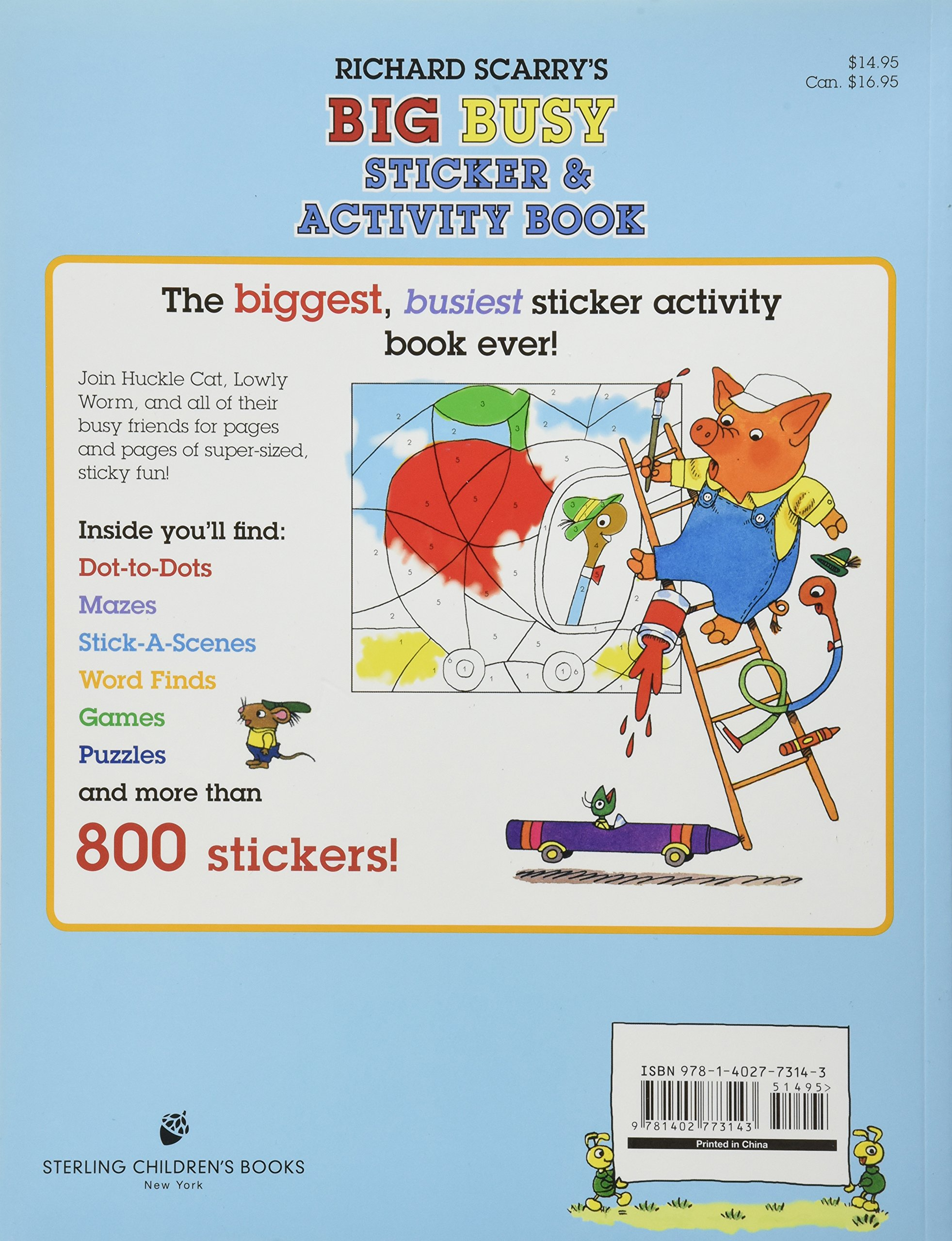 Richard scarrys big busy sticker activity book amazon richard scarrys big busy sticker activity book amazon richard scarry libros en idiomas extranjeros gumiabroncs