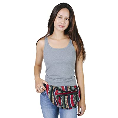 durable service Practical Cotton Hip Fanny Pack travel Utility Waist belt bag