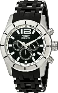 Invicta Men's 11247 Sea Spider Chronograph Black Textured Dial Black Polyurethane Watch