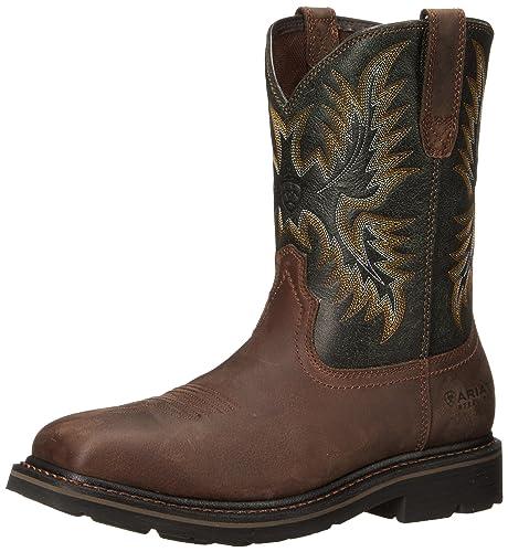 Ariat Sierra Wide - Botas de trabajo para hombre, diseño cuadrado, puntera de acero: Amazon.es: Zapatos y complementos