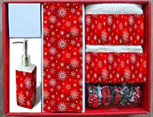 Carnation Home Fashions 16-Piece Holiday Snow Bath Set