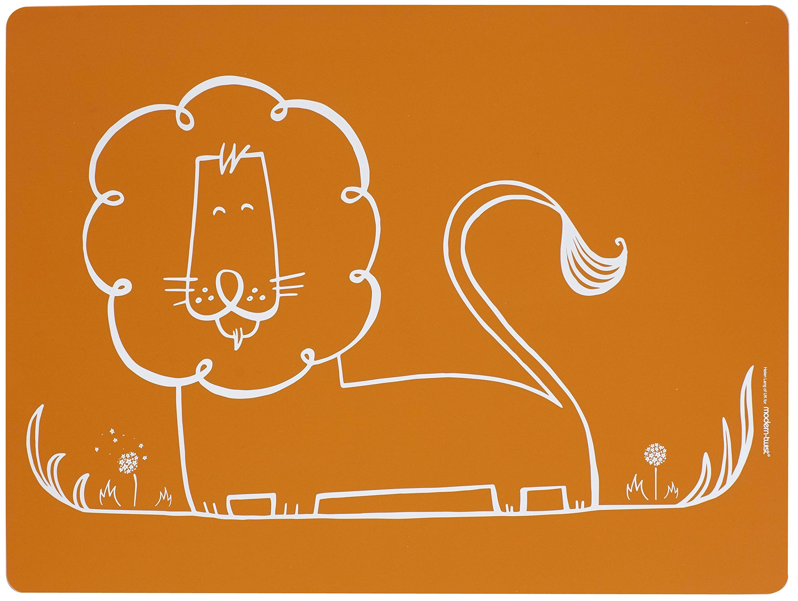 Moderntwist Baby Mealmat Silicone Placemat, Dandy Lion, Orange