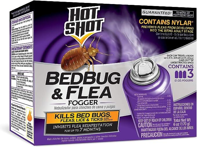 Amazon Com Hot Shot 95911 Ac1688 Bedbug Flea Fogger Pack Of 3 Purple Hot Shot Bed Bug Fogger Garden Outdoor