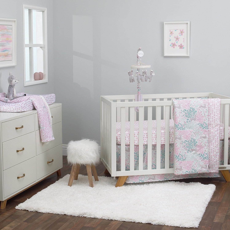 Amazon Com Dwell Studio Sweet Fawn Deer Forest 3 Piece Crib