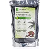 Activated Charcoal Powder by Sagano - Raw Organic Coconut Charcoal Bulk Food Grade - Premium Activated Charcoal Face Mask Coconut Powder - Natural Charcoal Teeth Whitening Toothpaste Detox