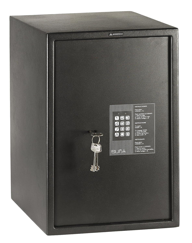 Arregui 31010 Caja fuerte de sobreponer electrónica con llave. 350x250x250 mm Negro texturado 350 x 250 x 250 mm: Amazon.es: Bricolaje y herramientas
