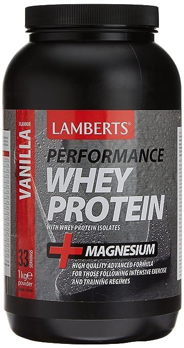Lamberts Whey Protein Vanilla & Magnesium 1000g Powder