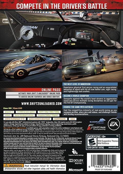 Electronic Arts EA Shift 2 Unleashed - Juego (Xbox 360, Racing, E10 + (Everyone 10 +)): Amazon.es: Videojuegos