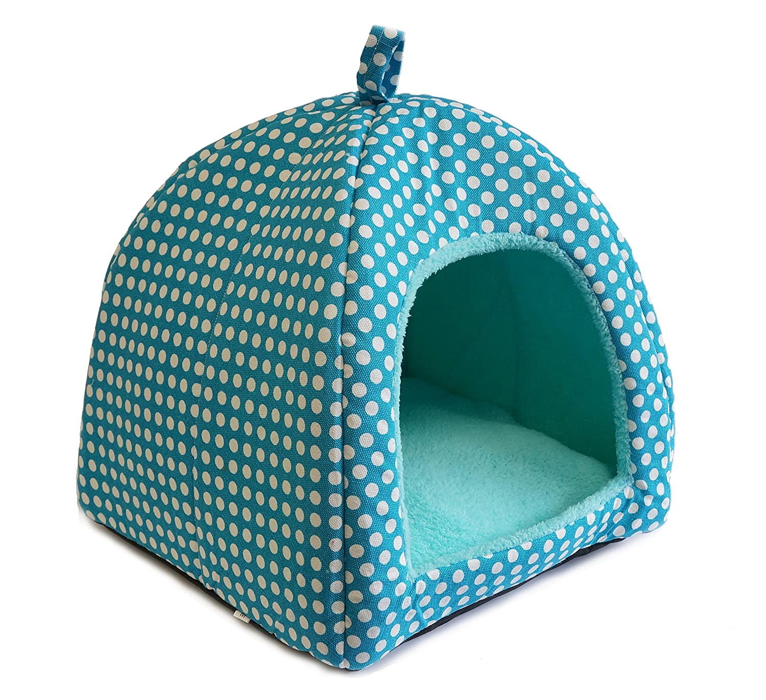 Elisanliving Mongolian Dog Cat Small Animal Pet Canopy Teepee Tent House Bed