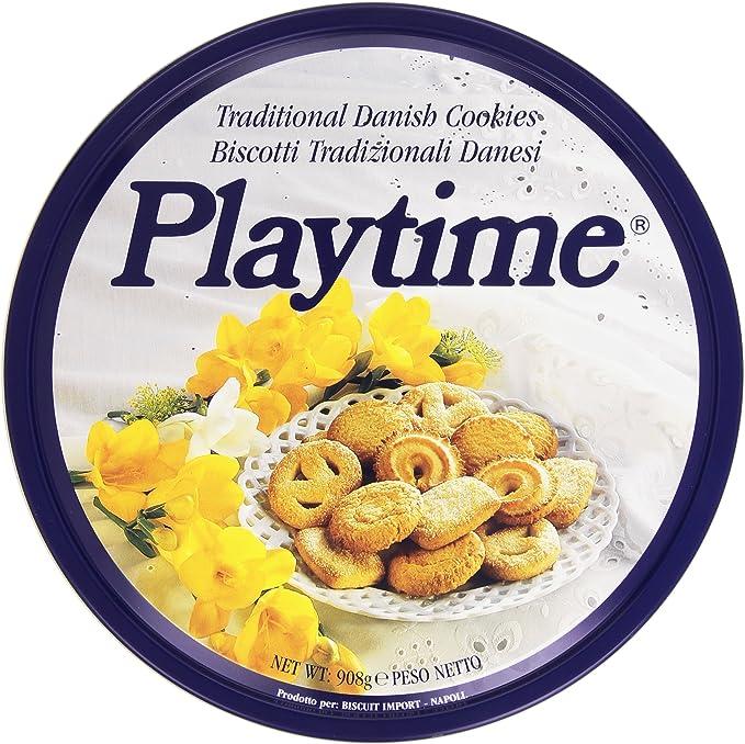 Playtime Biscotti Danesi Latta Gr 908 Amazon It Alimentari E Cura Della Casa