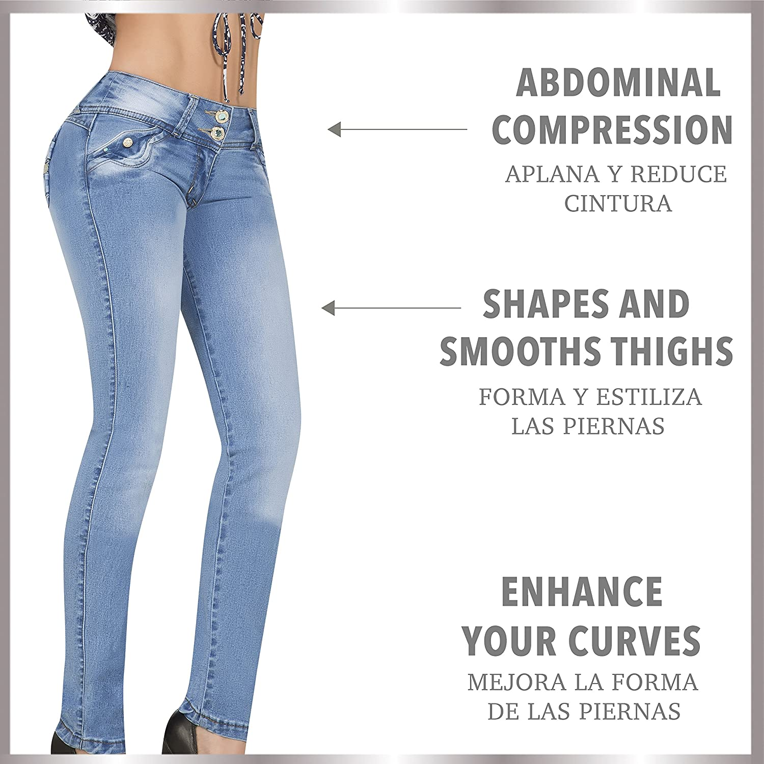 Aranza Pantalones Colombianos Levanta Cola Butt Lifting Colombian Jeans Low Rise at Amazon Womens Jeans store