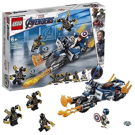 LEGO Super Heroes - Capitán América: Ataque de los Outriders, Juguete de Construcción,