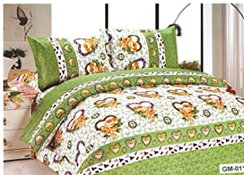 Buy Looms Of India Heart Shape Bed Sheet Double Bed Online At Low Prices In India Amazon In