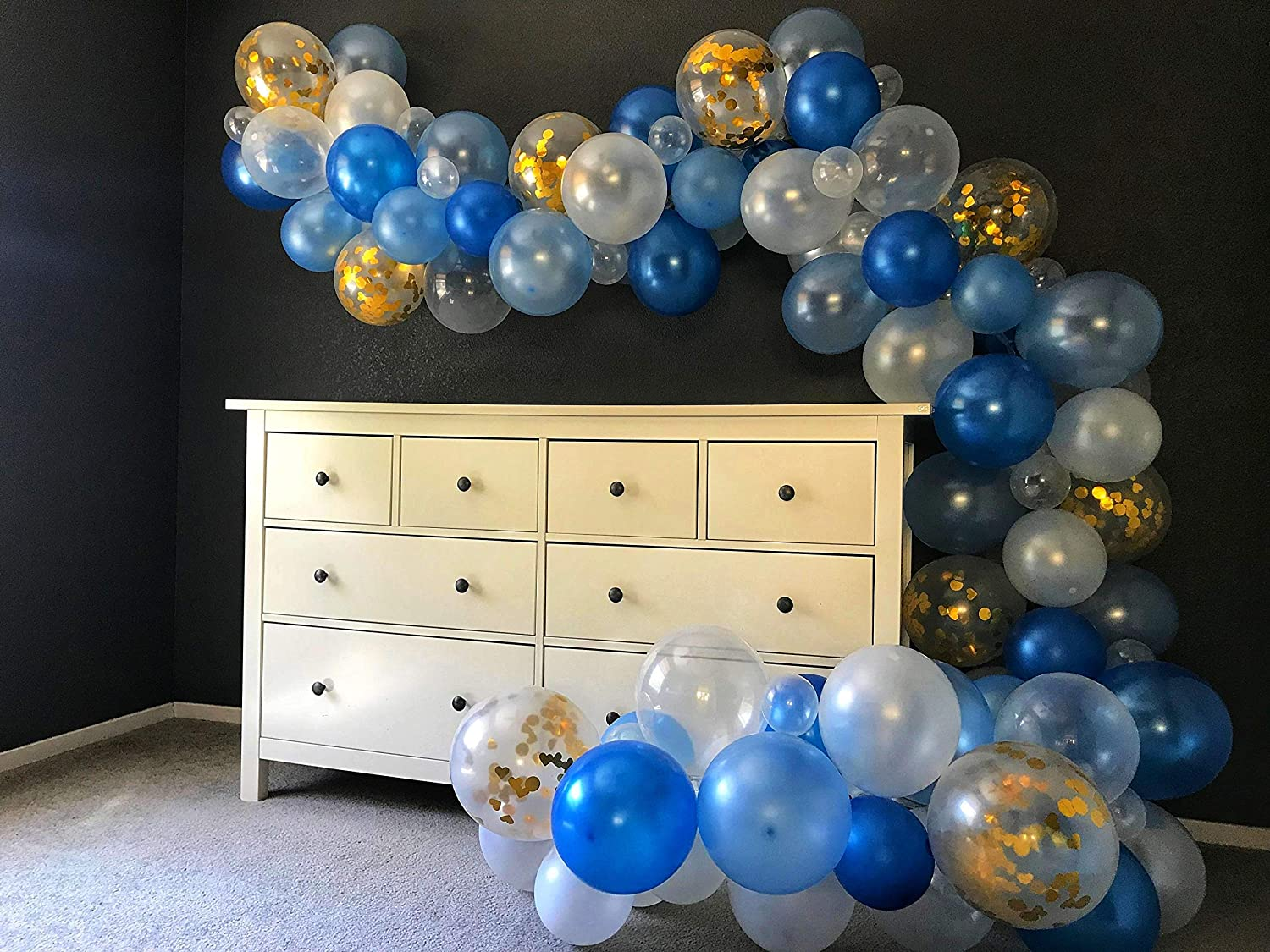 5' - 40' Create Your Own Balloon Garland DIY Kit, CHOOSE Your Own Colors,  Includes Pump & Wall Hooks