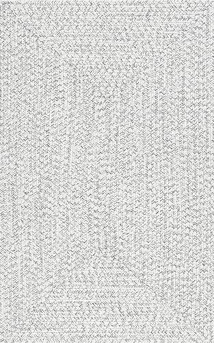 nuLOOM Lefebvre Braided Indoor Outdoor Rug, 4 x 6 , Ivory