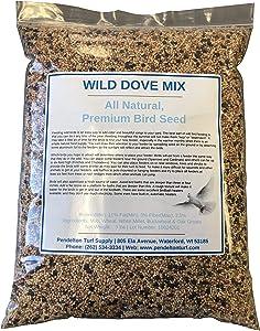 Pendelton Turf Supply Wild Dove Mix | All-Natural, Premium Bird Seed (9 lbs Resealable Bag)