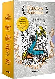 Caixa Clássicos Autêntica - Vol. 3: Alice no país das maravilhas; Alice através do espelho; Volta ao mundo em 80 dias; As mai