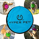 Hyper Pet Flippy Flopper Dog Frisbee Interactive Dog Toys [Flying Disc Dog Fetch Toy – Floats in Water & Safe on Teeth] (Colo