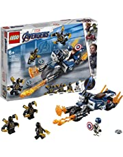 LEGO 76123 Marvel Avengers Endgame Outriders Attack Captain America's Motorcycle Toy, Super Heroes Playset, Colourful