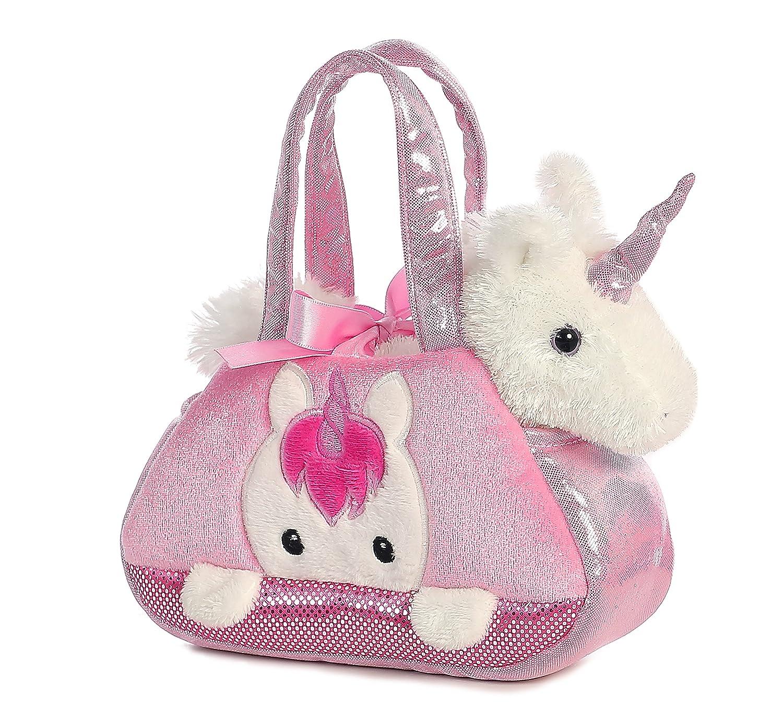 Fancy Pals Purse Peek A Boo Unicorn 8-Inch Plush Inc. Aurora World 32795