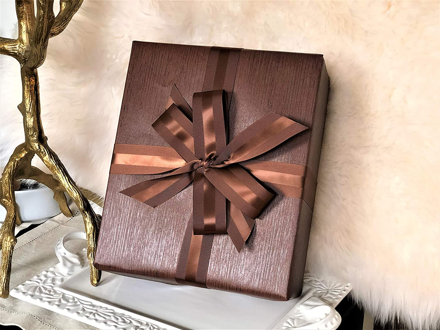 e4a1244c59e1 Brown faux leather gift wrap paper for large presents jpg 1500x1125 Blush faux  leather paper brown