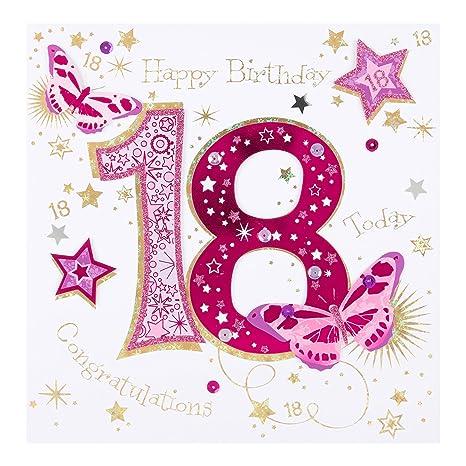 Amazon.com: Hallmark - Tarjeta de felicitación para 18º ...