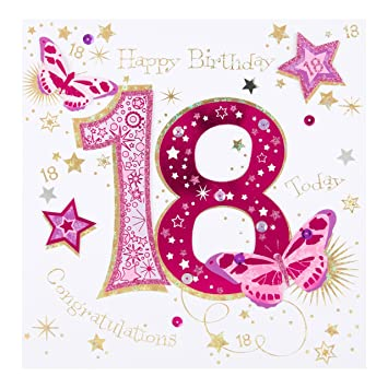 Amazon.com : Hallmark Ling 18th Birthday Card ...
