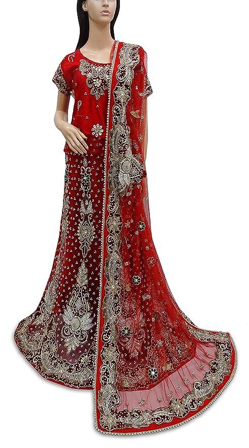 Red de falda larga estilo indio vintage con cuentas pesadas para ...