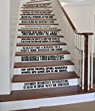 "Quote Set [BLACK] Large Vinyl Wall Stairs Decal by GMDdecals ONEliners Collection? 24"" x 2-4"" EACH QUOTE Dr Who Inspired Tardis Dalek Décor"