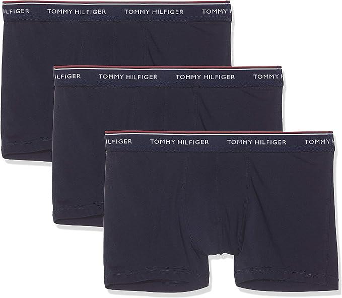 Amazon Com Tommy Hilfiger Men S 3 Pack Premium Essentials Trunks Blue Clothing