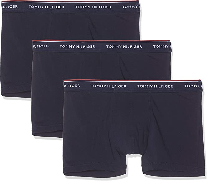 Tommy Hilfiger 3p Trunk Bóxer, Azul (Peacoat-Pt 409), Small (Pack de 3) para Hombre: Amazon.es: Ropa y accesorios