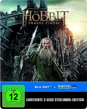 Der Hobbit Smaugs Einöde Steelbook Blu Ray Limited Edition